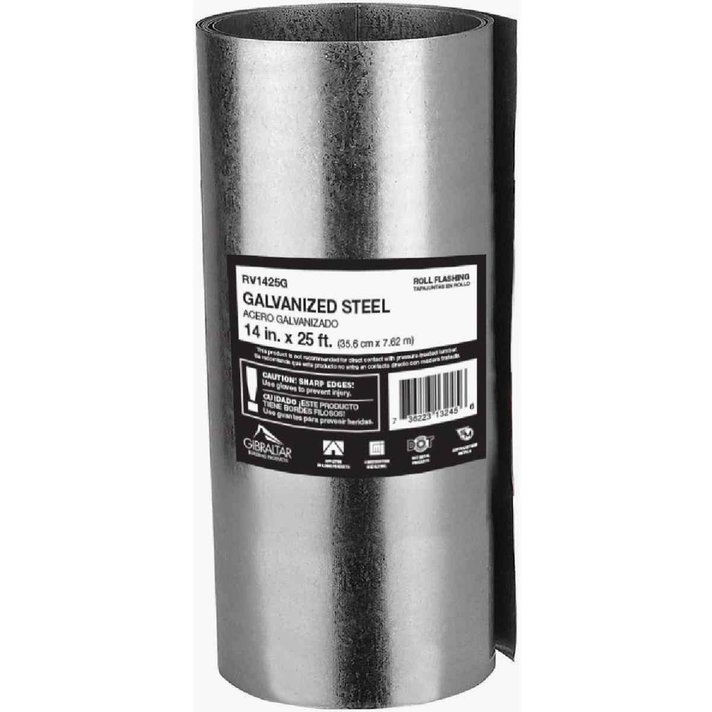 NorWesco 14 In. x 25 Ft. Mill Galvanized Roll Valley Flashing Image 1