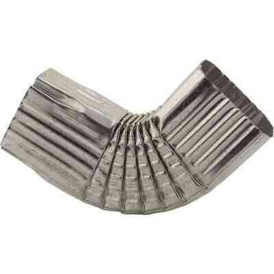 NorWesco 3-1/4 In. Galvanized Galvanized Side Downspout Elbow