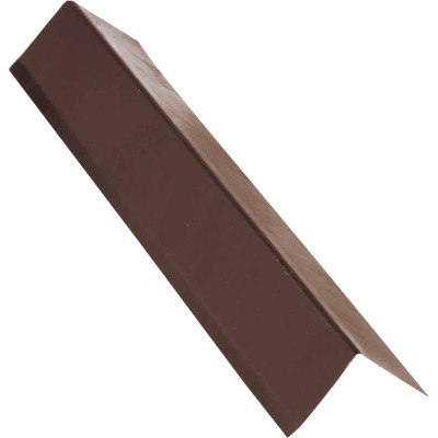 NorWesco A 2 In. X 2 In. Galvanized Steel Roof & Drip Edge Flashing, Brown
