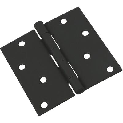 National 4 In. Square Black Door Hinge