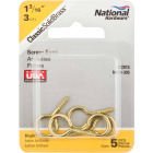 National #12 Brass Large Screw Eye (5 Ct.) Image 2