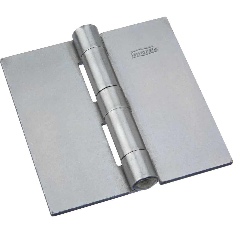 National 3-1/2 In. Square Plain Steel Weldable Door Hinge Image 1
