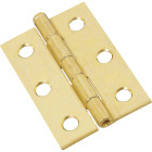 National 2-1/2 In. Brass Loose-Pin Narrow Hinge (2-Pack) Image 1