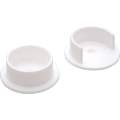 National 1-3/8 In. Plastic Closet Rod Socket, White (2 Per Bag)