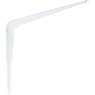 National 211 10 In. D. x 12 In. H. White Steel Shelf Bracket