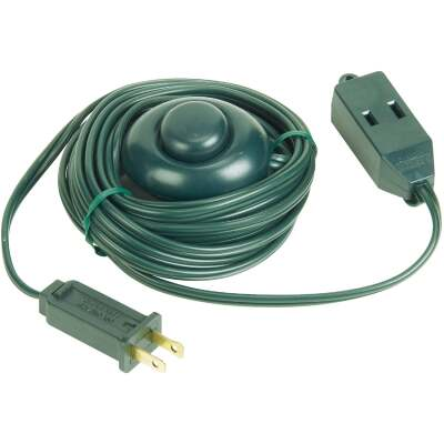 Do it 15 Ft. 18/2 Green Extension Cord with Foot Switch