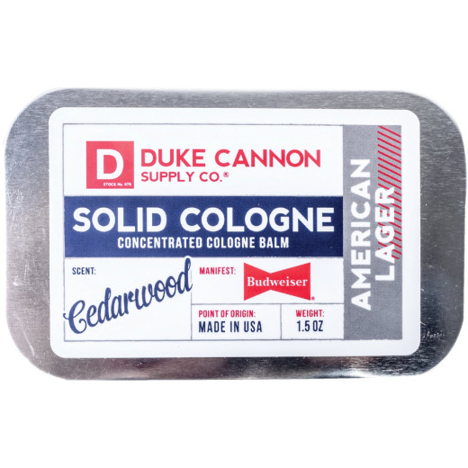 Duke Cannon 1.5 Oz. Great American Budweiser Solid Cologne