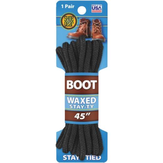 Shoe Gear Waxed 45 In. Round Boot Laces