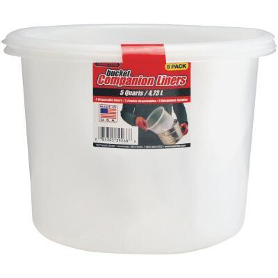 Leaktite 5 Qt. Polyethylene Bucket Companion Liner (5 Pack)