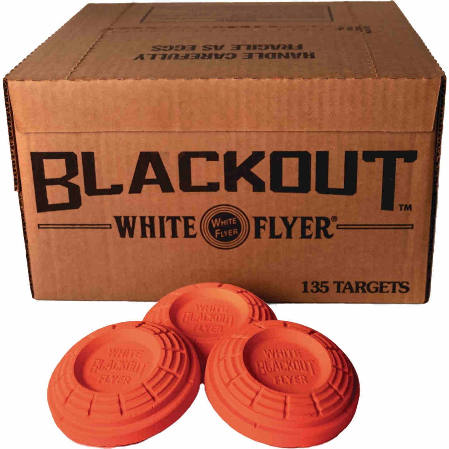 White Flyer Blackout Orange Clay Target (135-Pack) Image 2